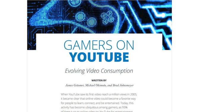 研究報告書「Gamers on YouTube」