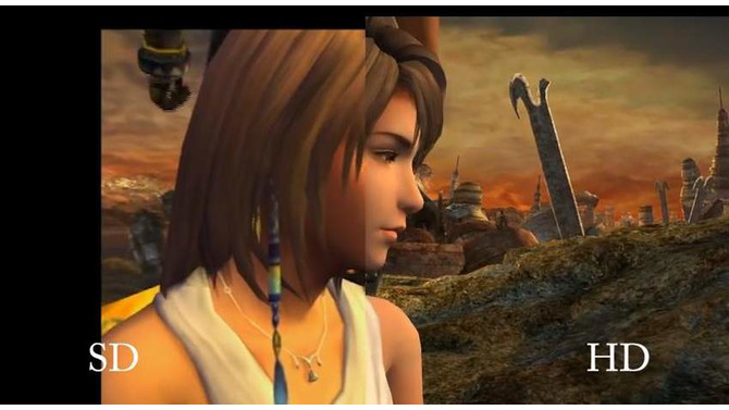 FINAL FANTASY X/X-2 HD Remaster SD、HD 画面比較
