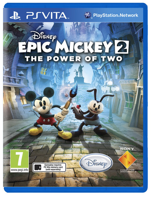 PS Vita版『Epic Mickey 2: The Power of Two』パッケージ