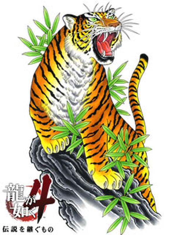 他にも『龍が如く4 伝説を継ぐもの』のタイトルロゴや、4人の主人公のうちの1人「冴島大河」の「虎の刺青」待受画像を無料でダウンロードすることが出来ます。