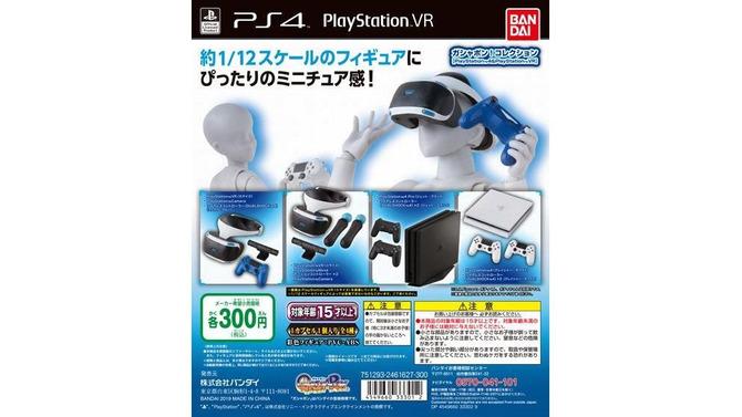 PS4とPS VRがガチャポンフィギュア化!1/12スケールのミニチュアがキミの手に