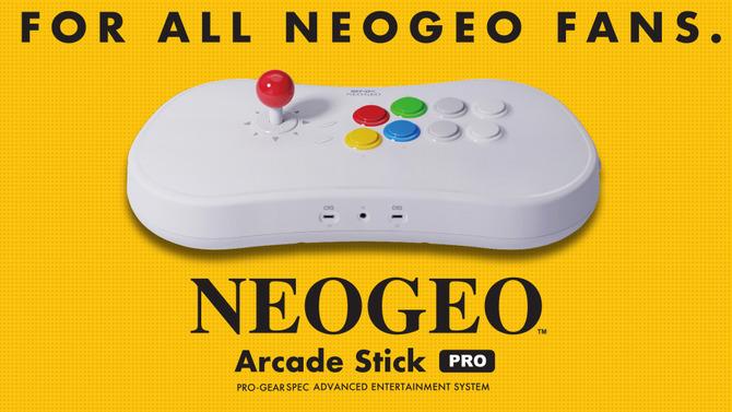 人気格闘ゲーム20作品を内蔵した新ハード「NEOGEO Arcade Stick Pro」発売決定!実用性を備えたユニークなアーケードスティックに