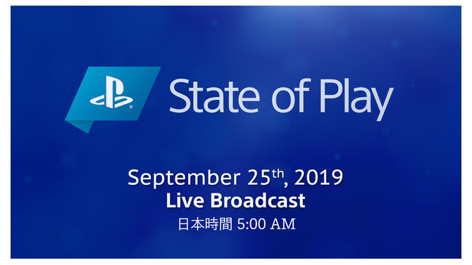 SIE公式番組「State of Play」第3回は9月25日午前5時スタート!新作やWWS作品新情報などが発表