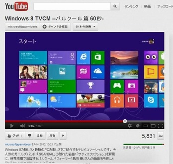 Windows 8のTV CM
