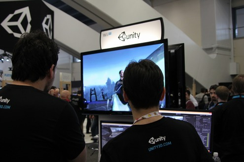 Unity 4 for Wii Uも展示されていた