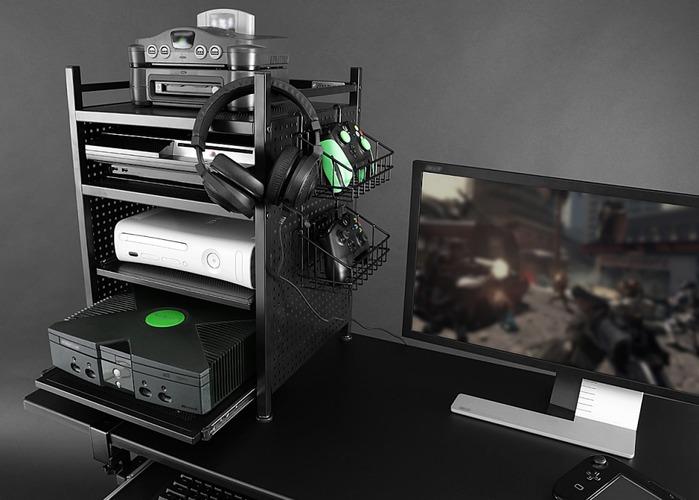 ゲーム機に特化した便利ラックが発売!収納、排熱、配線管理全てこれ1台で解決