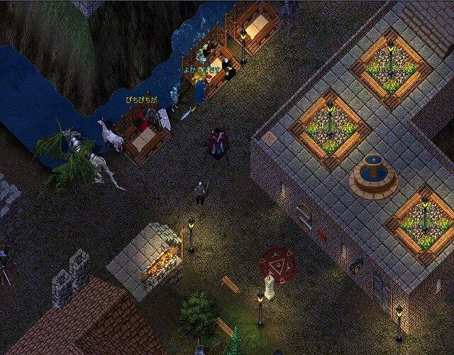 719092 - 【MMORPG】UltimaOnlineの現在…一番人が集まる銀行前がこちら(´;ω;`)